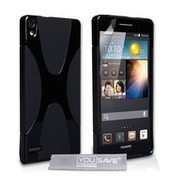 YouSave Accessories Huawei P6 X-Line Gel Case - Black