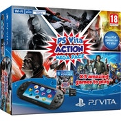Playstation PS Vita Slim WiFi Console with 5 Game Action Mega Pack + 8GB Memory Card