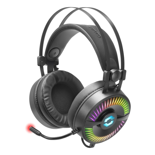 Speelink Quyre RGB 7.1 Surround Sound PC Gaming Headset with Flexible Microphone Boom and RGB Illumination USB-A Connector 2.2m Cable