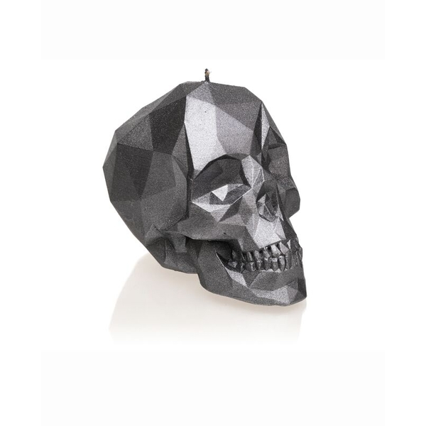 Steel Large Low Poly Skull