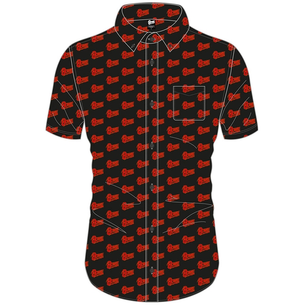 David Bowie - Logo Pattern Unisex XX-Large T-Shirt - Black