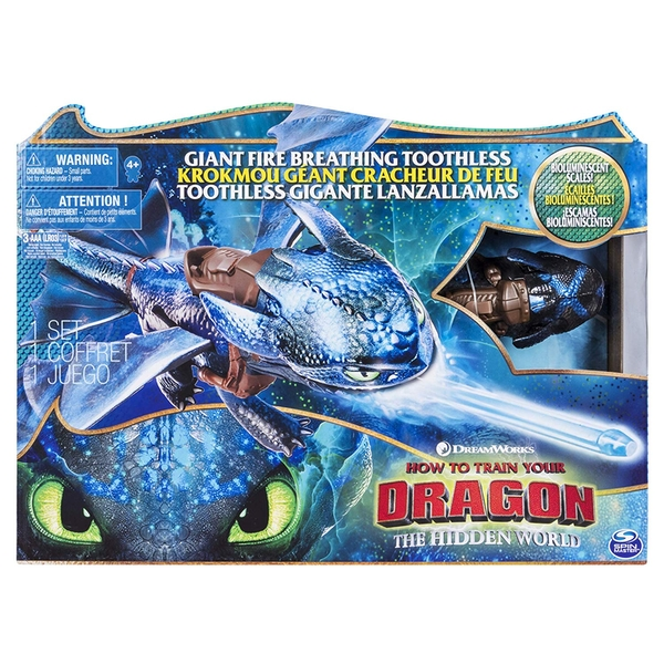 How To Train Your Dragon Fire Breathing Toothless - Damaged Packaging