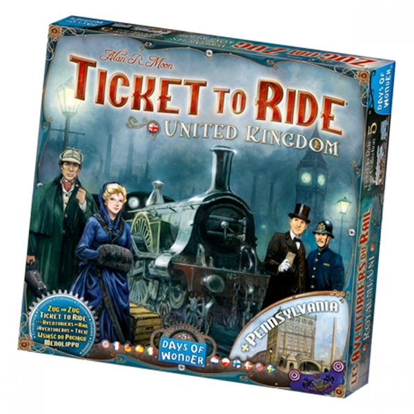 Ticket To Ride United Kingdom + Pennsylvania Board Game - Image 1
