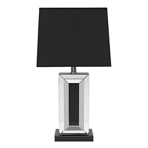 Mirror Table Lamp & Black Accent **SHIPPING RESTRICTIONS**