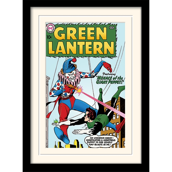 Green Lantern - Giant Puppet Mounted & Framed 30 x 40cm Print - Image 1
