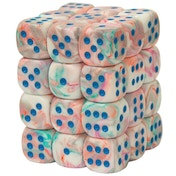 Chessex 12mm Dice Block: Festive Pop-Art/Blue (36)