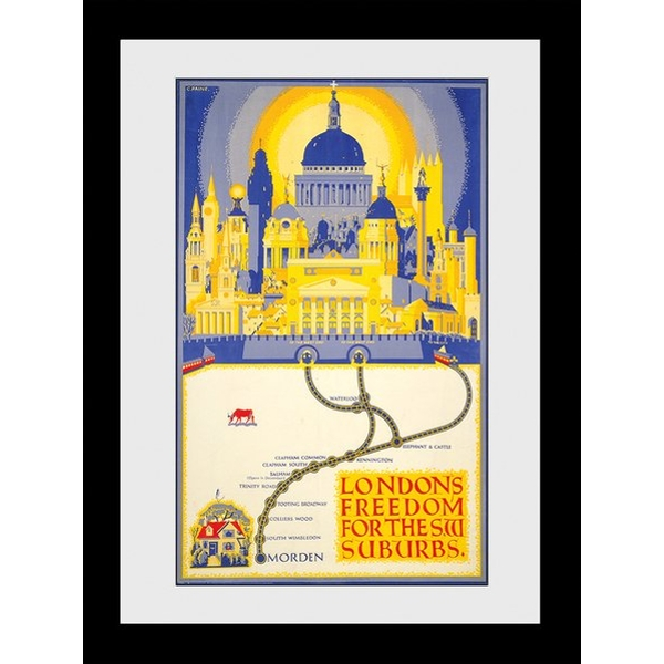 Transport For London Londons Freedom 60 x 80 Framed Collector Print