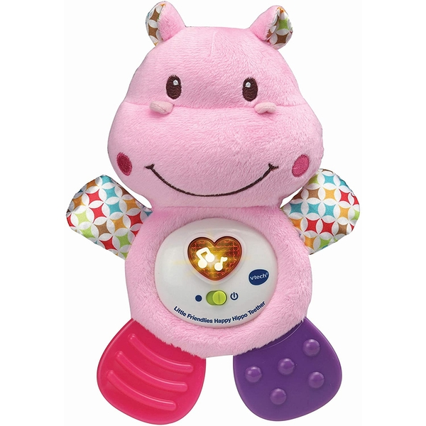 VTech Little Friendlies Happy Hippo Teether - Pink - Image 1