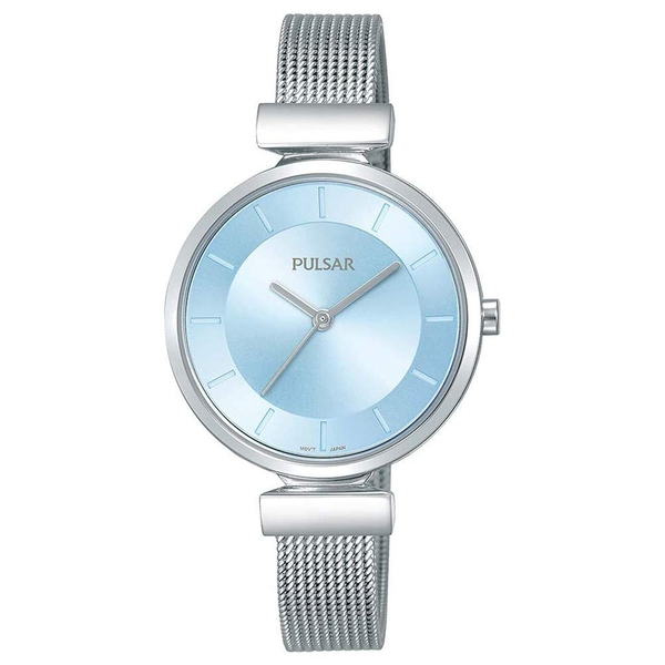 Pulsar PH8411X1 Ladies Stainless Steel Mesh Bracelet With Blue Dial 50M Watch