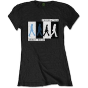 The Beatles - Abbey Road Colours Crossing Women's Small T-Shirt - Black