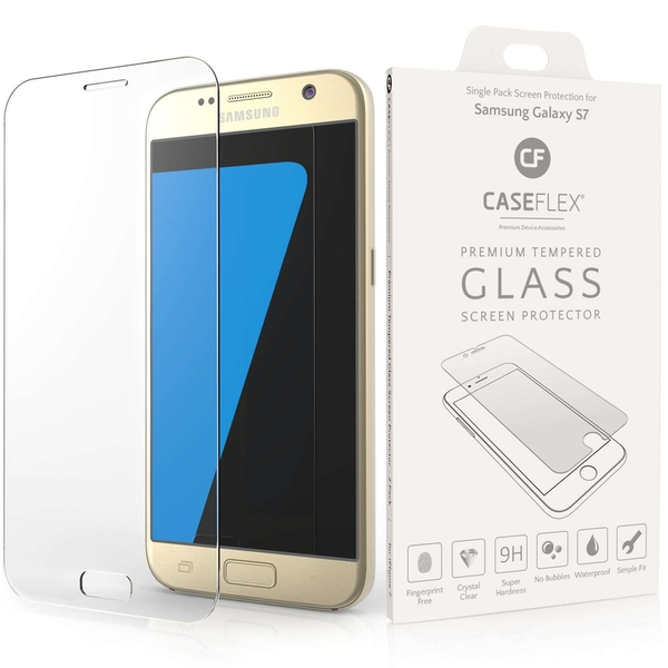 Caseflex Samsung Galaxy S7 Glass Screen Protector - Twin Pack (Retail Box)