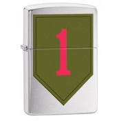 Zippo US Army 1st Infantry Brushed Chrome