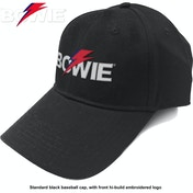 David Bowie - Aladdin Sane Bolt Logo Men's Baseball Cap - Black