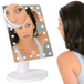 LED Light Up Illuminated Make Up Bathroom Mirror With Magnifier | M&W White - Image 2