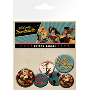 DC Comics Harley Quinn Bombshell Badge Pack