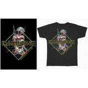 Iron Maiden - Somewhere in Time Diamond Men's Small T-Shirt - Black