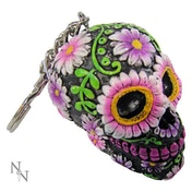 Sugar Petal (Pack Of 6) Skull Keyrings