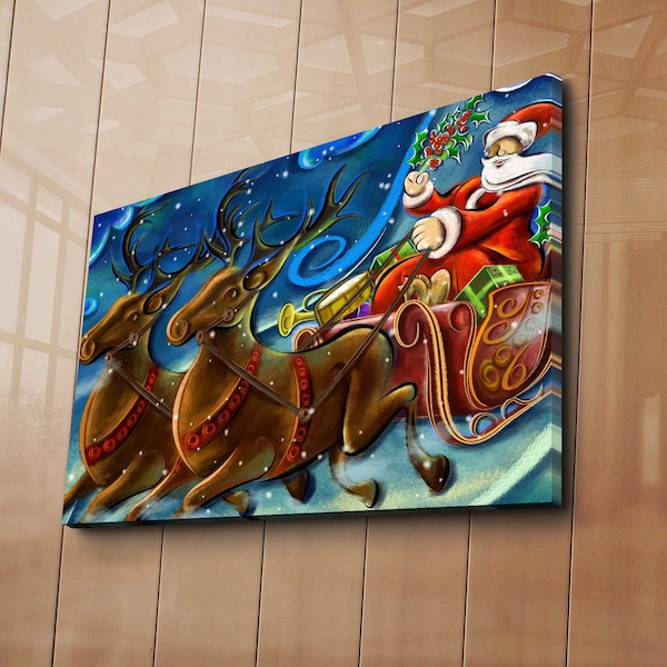 4570YYC-007 Multicolor Decorative Canvas Painting Sleigh Ride