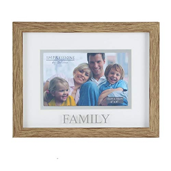 """6"""" x 4"""" - Natural Wood Effect Frame - Family"""