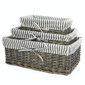 Grey Wicker Basket | M&W Set of 3
