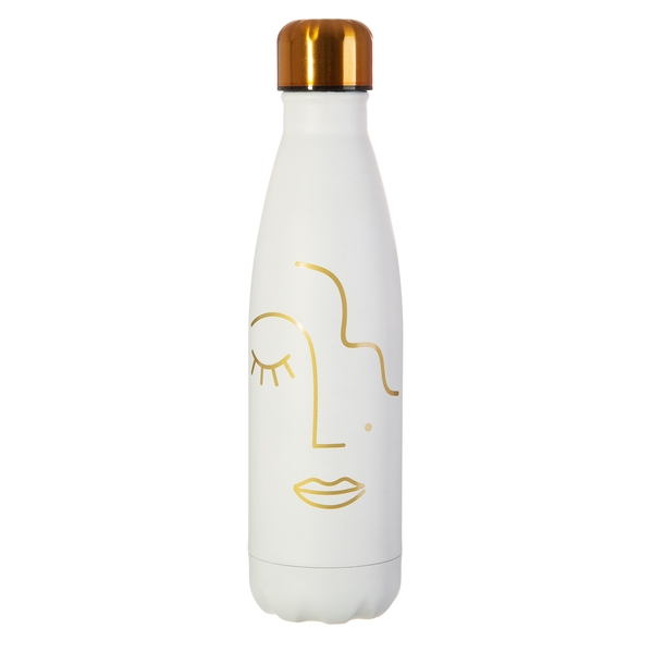 Sass & Belle Abstract Face Stainless Steel Bottle