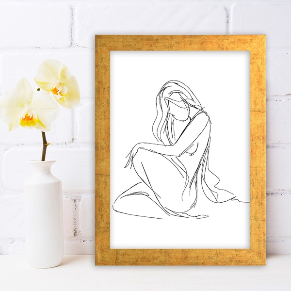 AC492426223 Multicolor Decorative Framed MDF Painting
