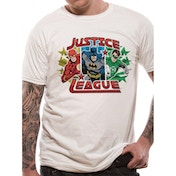 Justice League - Trio Men's Large T-Shirt - White