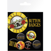 Guns N Roses  Lyrics and Logos Badge Pack