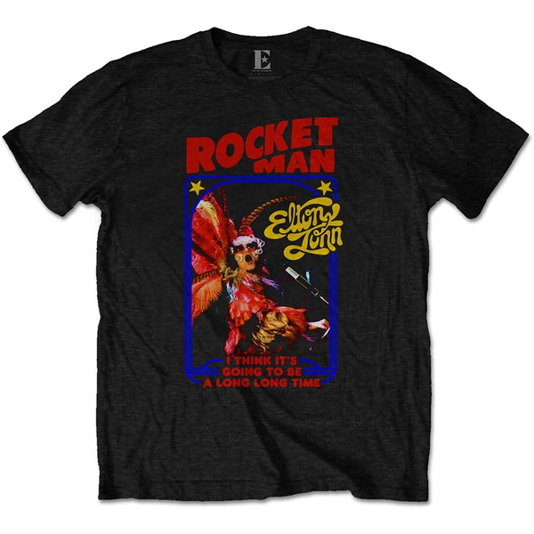 Elton John - Rocketman Feather Suit Men's Medium T-Shirt - Black