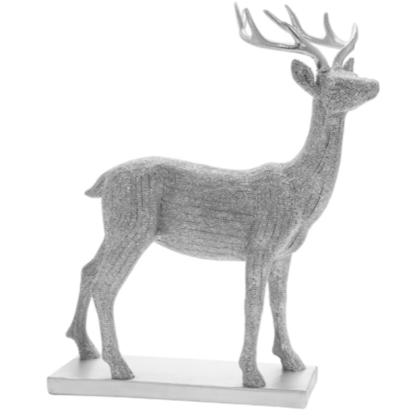Silver Art Silver Stag Large Figurine By Lesser & Pavey
