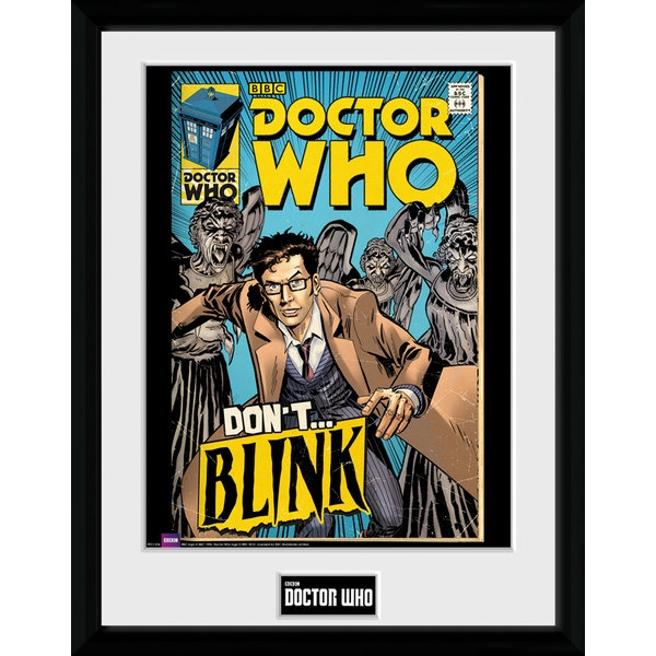 Doctor Who Weeping Angels Comic Framed Collector Print