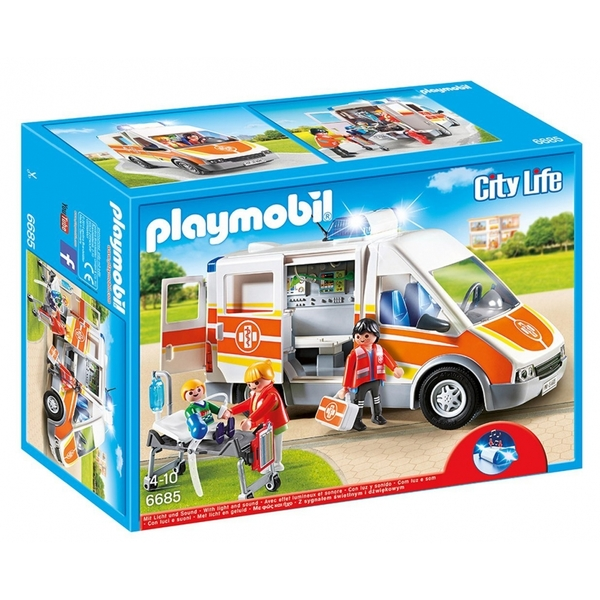 Playmobil  City Life Ambulance with Lights and Sound