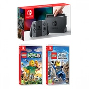 Nintendo Switch Console with Grey Joy-Con Controllers + Lego City Undercover + Lego Worlds