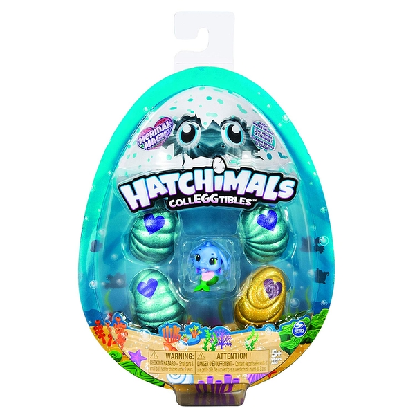 Hatchimals Colleggtibles 4 Figure Pack + Bonus - Mermal Magic - Image 1