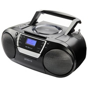 Groov-e GVPS933BK Ultimate Bluetooth Boombox Portable CD & Cassette Player with DAB/FM Radio UK Plug
