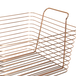 Rose Gold Metal Storage Basket | M&W Large New - Image 2