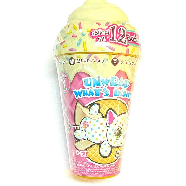 Cutetitos 39150BF07 Cutetitos Babitos Ice Creamitos Collectable Mystery Plush Toy - Assorted