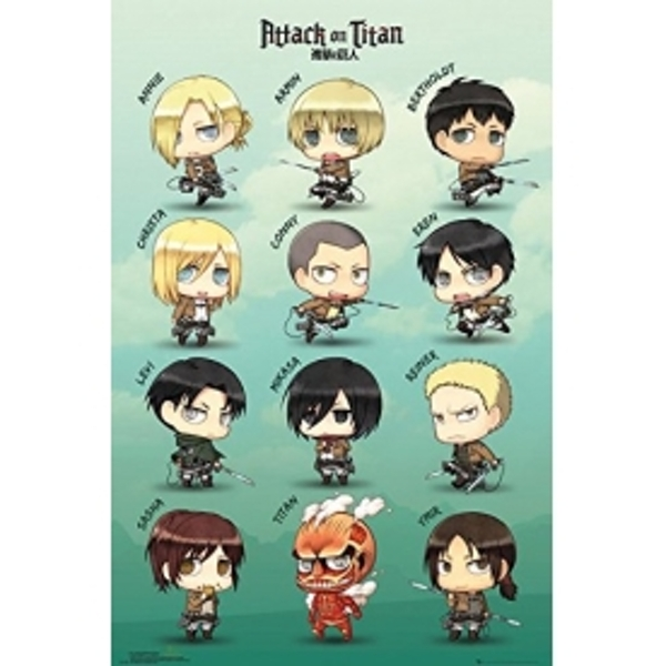 Attack on Titan Chibi Characters Maxi Poster