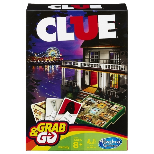 Clue Grab and Go Travel Board Game