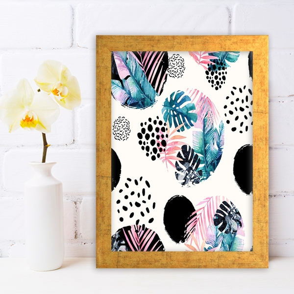 AC691276174 Multicolor Decorative Framed MDF Painting