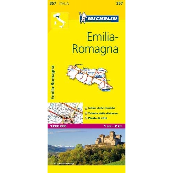 Emilia Romagna - Michelin Local Map 357 Laws for the Internet Age 2007 Sheet map