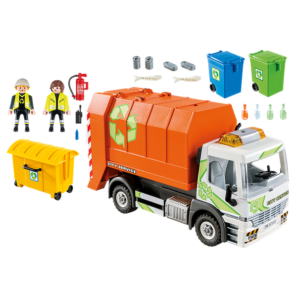 Playmobil -  City Life Vehicle World Recycling Truck with Flashing Lights Playset