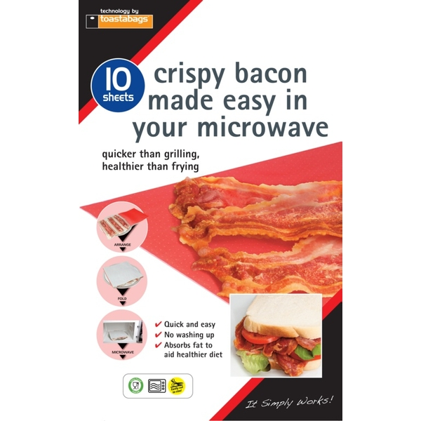 Toastabags Crispy Bacon Sheets Pack 10