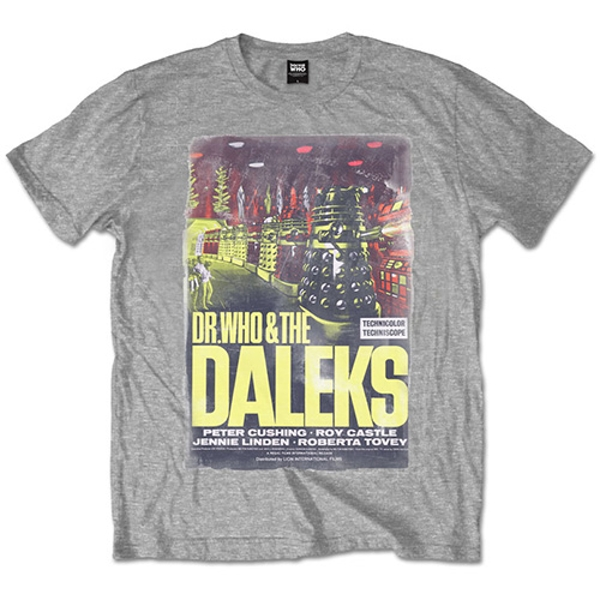 Doctor Who - Daleks Unisex Large T-Shirt - Grey