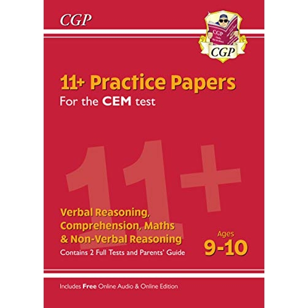 New 11+ CEM Practice Papers - Ages 9-10 (with Parents' Guide & Online Edition)  Paperback / softback 2019