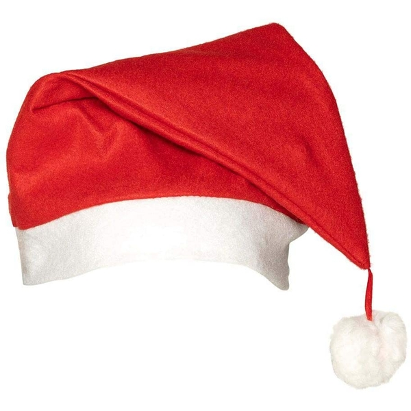 Santa Hat One Size (Red/White)