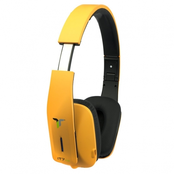 iT7x2 Foldable Wireless Bluetooth Headphones with Near Field Communication NFC Orange - Image 2