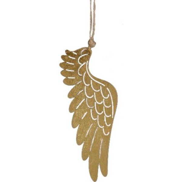Antique Gold Angel Wing 17cm