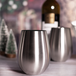 Pack of 4 Stainless Steel Wine Glasses | M&W - Image 4