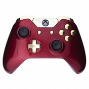 Crimson Red & Gold Xbox One Controller